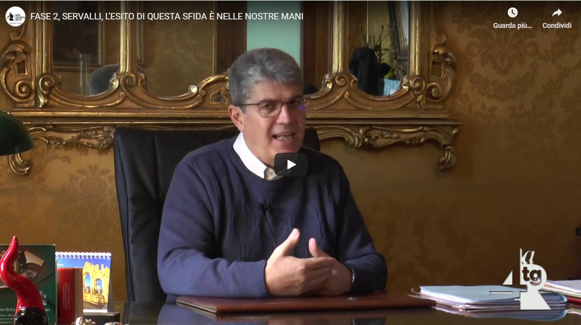 """FASE 2, Servalli: """"L'ESITO DI QUESTA SFIDA È NELLE NOSTRE MANI"""""""