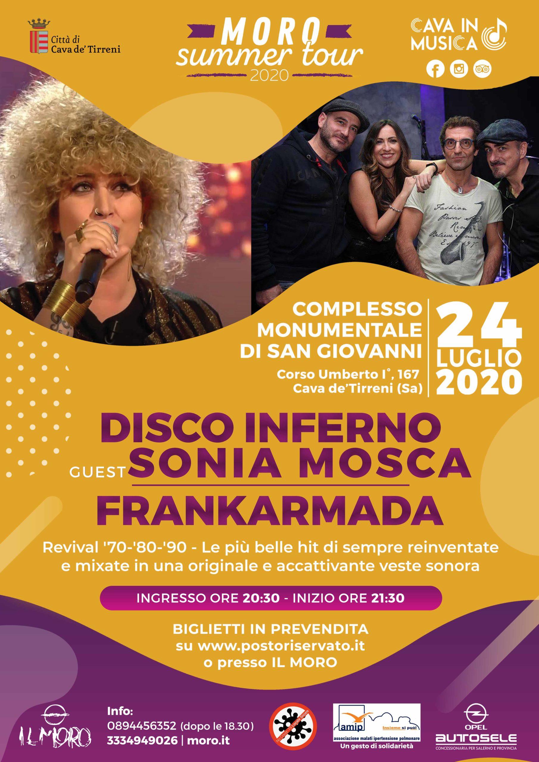 Pub Il Moro: Questa sera, Discoinferno Live guest Sonia Mosca & Frankarmada