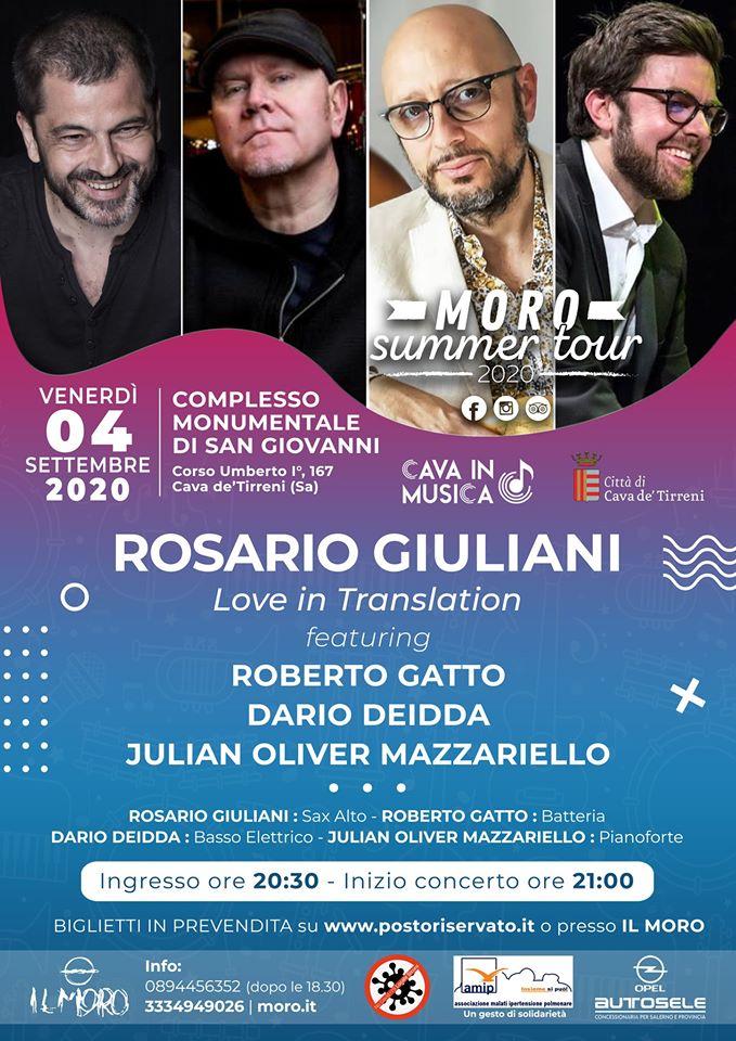 """Pub Il Moro: ANNULLATO Rosario Giuliani """"Love in Translation"""""""