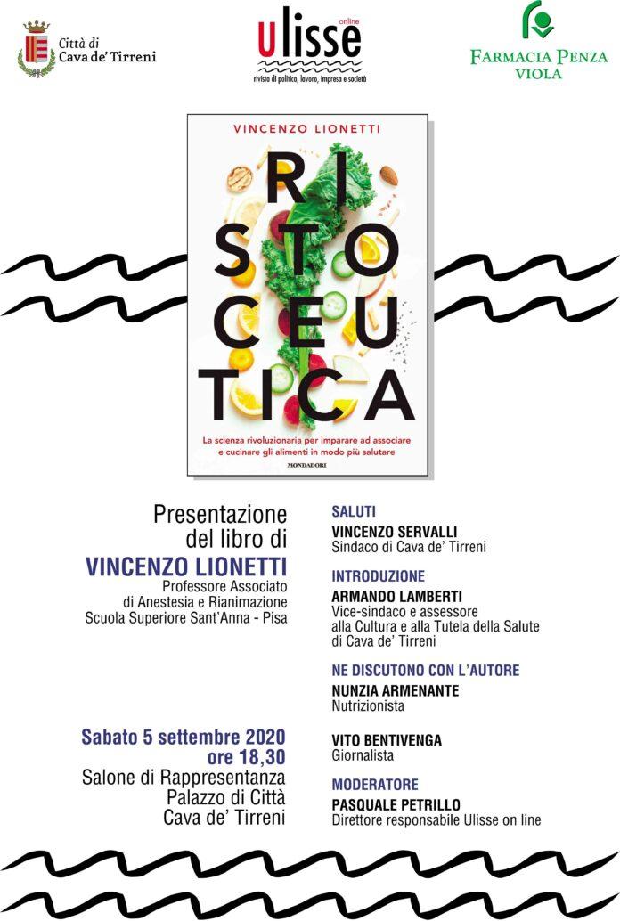 Cava, RISTOCEUTICA del prof. Vincenzo Lionetti sarà presentato sabato prossimo a Palazzo di Città