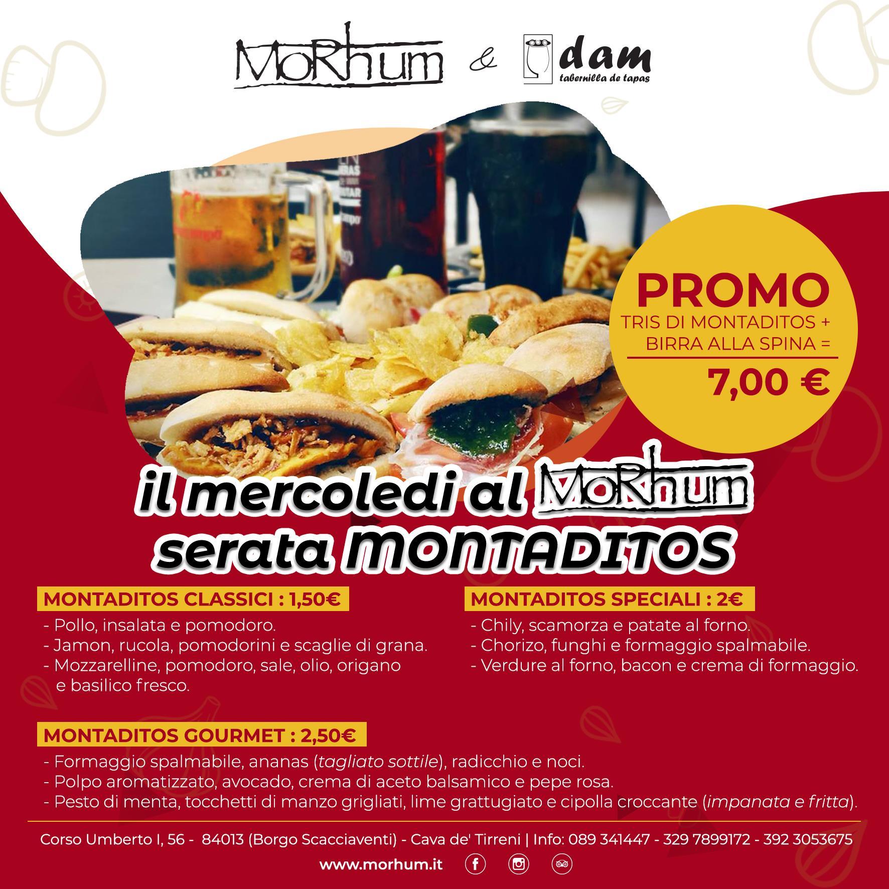 Morhum e DAM – Il mercoledì promo Montaditos