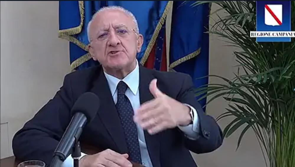 COVID19, Nuova ordinanza firmata da Vincenzo De Luca