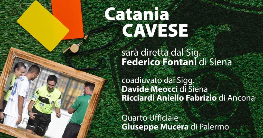 Catania-Cavese all'esperto Fontani