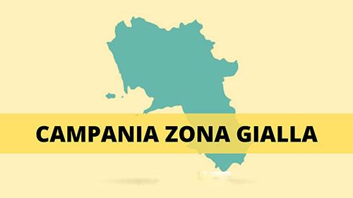Campania zona gialla prima di Natale: calo contagi ma tempi tecnici da rispettare
