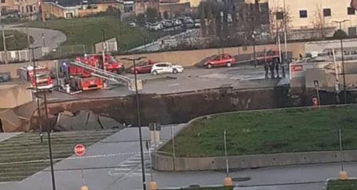 Esplosione nel parcheggio dell'Ospedale del Mare: evacuato il Covid Residence