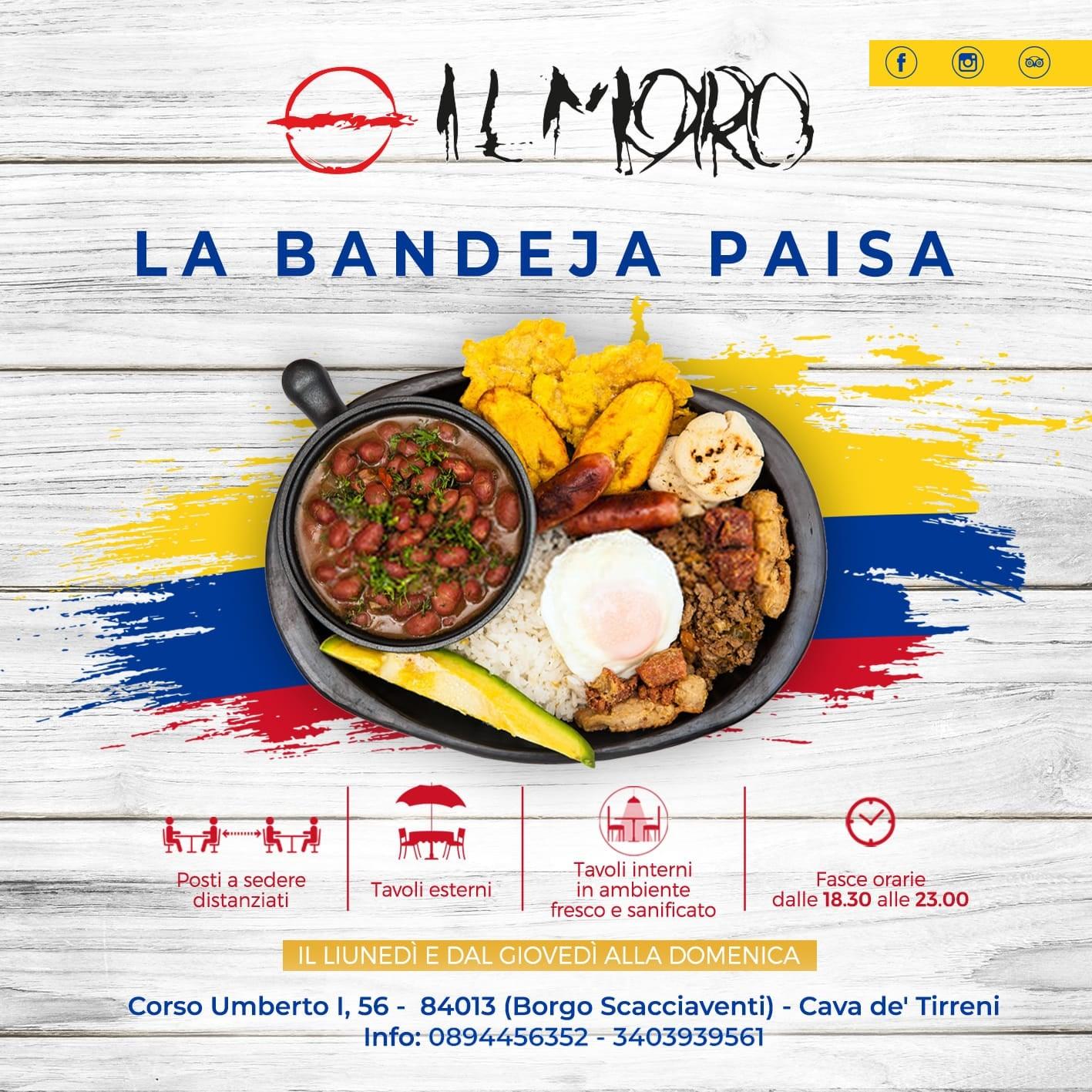 Scopri la Bandeja Paisa del Pub Il Moro, il lunedì e dal giovedì alla domenica!