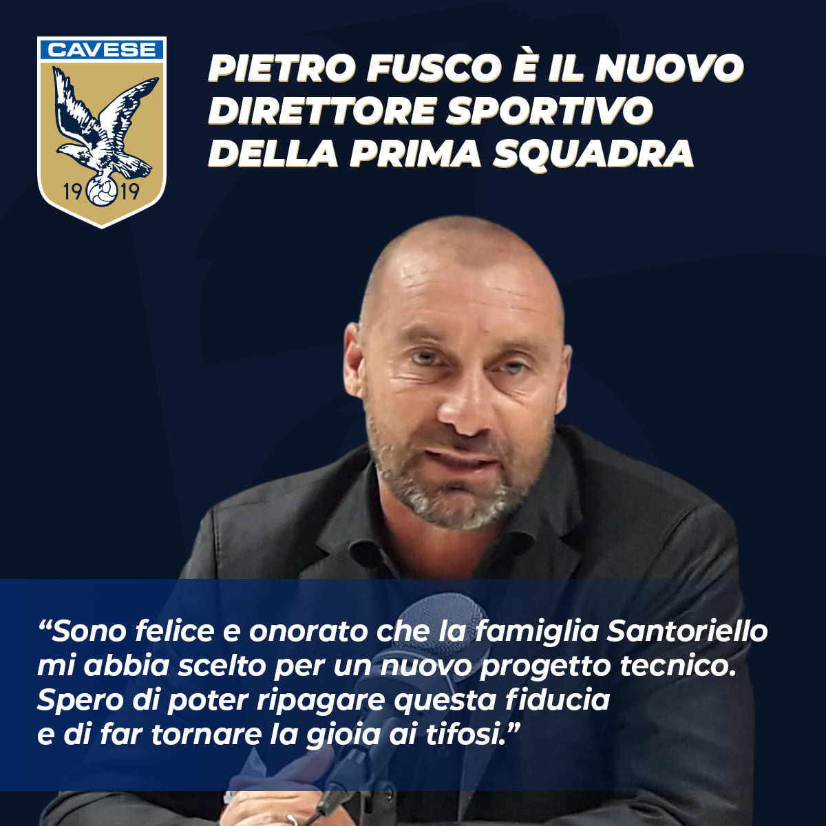 Pietro Fusco sarà il nuovo DS della Cavese 1919