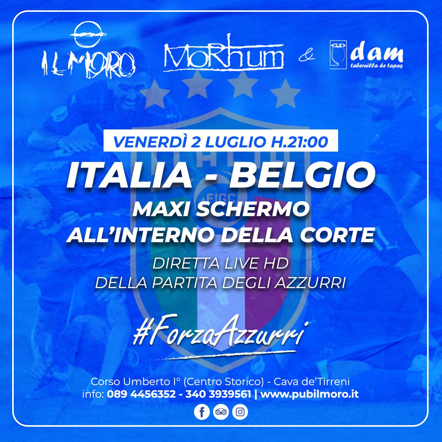 Questa sera al Pub Il Moro per vivere Notti Magiche! Maxi schermo Italia – Belgio