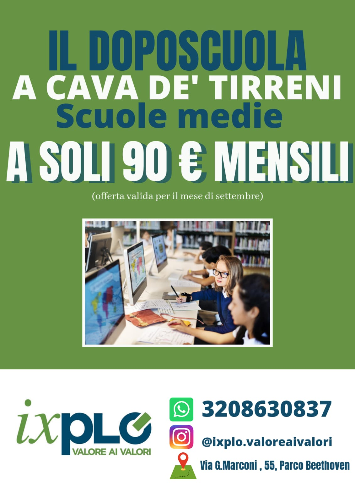 IXPLO', il Doposcuola a Cava de' Tirreni a soli 90 € per il mese di Settembre!