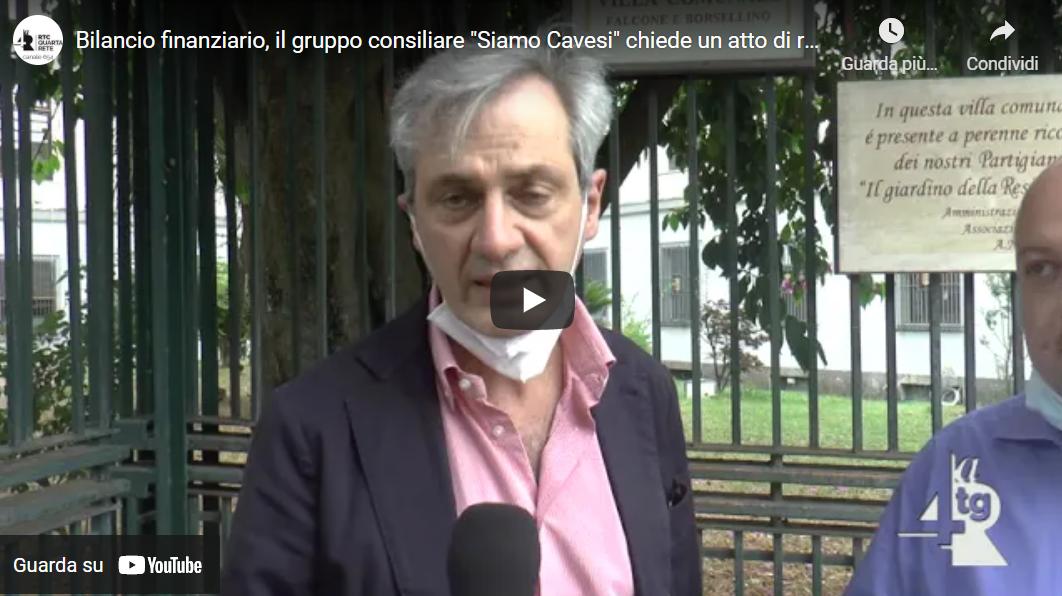 """Situazione finanziaria, il gruppo consiliare """"Siamo Cavesi"""" chiede un atto di responsabilità da parte del sindaco Servalli"""