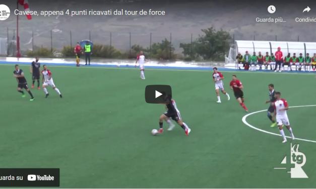 Cavese, appena 4 punti ricavati dal tour de force [VIDEO]